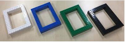2 ブロック壁(2×4 の白,青,緑,黒ブロック 24 個で構成)