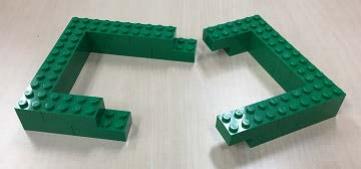 図 8 ブロック壁の作り方